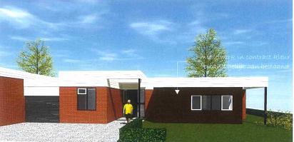 Ontwerp van de bungalow in Eefde